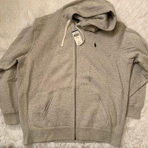 NWT $79 Ralph Lauren Grey Cotton Fleece Hoodie XXL